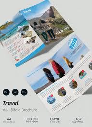 travel brochure templates in psd vector eps travel a4 bi fold brochure template