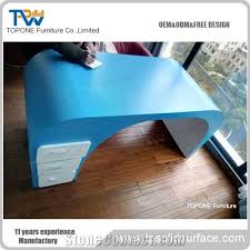 office desk table tops. Desk Tops Furniture. Modren China Factory Cheap Price Wood Blue Color Office  Table