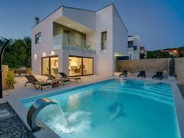 Beach Villa With Pool Jacuzzi 30 Meters From The Sea Magnificent Sea Views Klimno