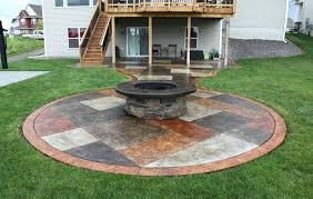 Backyard Patio Ideas Concrete Concrete Patio Designs Round Backyard
