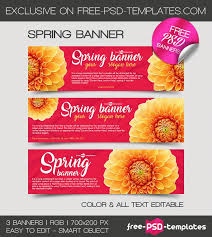 3 Free Spring Banner In Psd Free Psd Templates