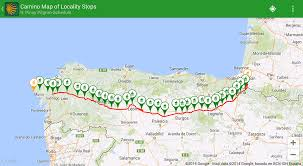 pinay pilgrim guides, books and apps for the camino de santiago Camino De Santiago Map below is a screenshot of the towns localities for the camino frances using the google online maps, and a sample schedule generated by the app from the base camino de santiago mapa