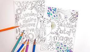 coloring postcards. Contemporary Postcards HAPPY LIFE Coloring Postcard Set For Postcards Z