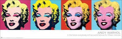 com andy warhol marilyns pop art poster print marilyn monroe 12x36 by culturenik posters prints