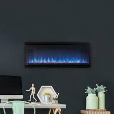 details about napoleon alluravision slimline 42 inch wall mount electric fireplace