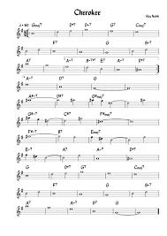 cherokee sheet music cherokee for alto sax eb sheet music for alto saxophone musescore