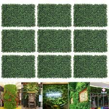2 12pcs artificial ivy leaf hedge mat