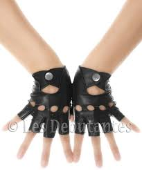 classic black fingerless leather driving gloves les dentes