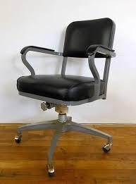 industrial office chair. Vintage 1960\u0027s Winfield Industrial Office Chair Retro Wheels Black Naugahyde I