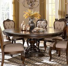 bonaventure park cherry round oval pedestal dining table