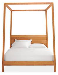 Wooden Canopy Bed Frame Contemporary Hale Wood Modern Beds Platform ...