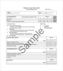 5th Samples Word Grade Card Progress Google Template Report Student Templates Doc
