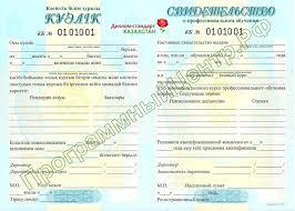 Диплом стандарт Казахстан Бланк приложения к академической справке Бланк свидетельства о профессиональном обучении