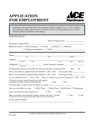 job application form templates in pdf word excel ace hardware application for employment form