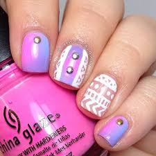 ombre nail design with white dels