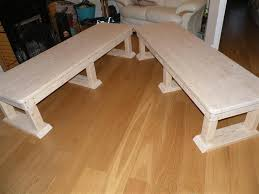 picture of solid wood bench coffee table