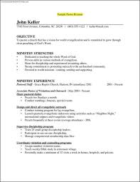 Pastor Resume Templates Interesting Ministry Resume Templates Simple Com 48 Download 48 Great Template