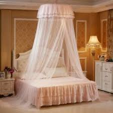 Details about Round Dome Lace Bed Mosquito Netting Net Mesh Canopy Princess Bedding Net Adult
