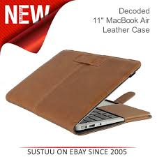 sentinel decoded laptop slim cover protective leather case for 11