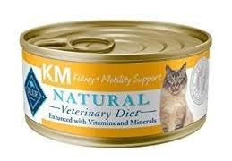 non prescription low phosphorus cat food. Blue Natural Veterinary Diet KM Kidney + Mobility Support Canned Cat Food Non Prescription Low Phosphorus