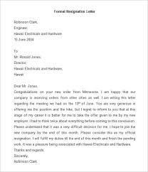 Sample of Formal Resignation Letter min