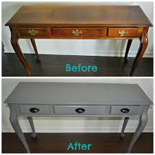 painted wood furnitureDIY Spray Painted Console Table How to Update Furniture with
