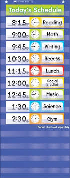 Scholastic Schedule Cards Pocket Chart Add Ons