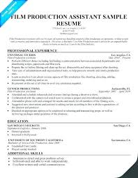 Cover Letter Production Assistant Film Production Resume Foodcity Me