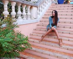 Russian milf on stairs