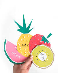 free printable fruit themed cards for guest book well wishes at