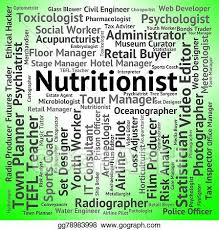 Stock Illustration - Nutritionist Job Means Hire Food And Jobs ...