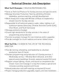 technical director job description example service director job description