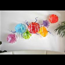 opaque spring blown glass wall art