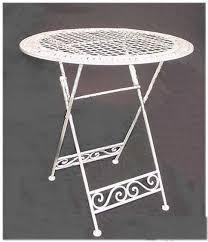 table white wrought iron folding total stock 2