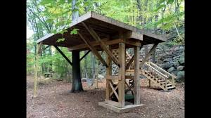 tree house plans for one tree. Building A Treehouse Platform In Single Oak Tree House Plans For One W