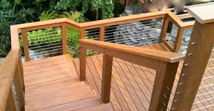 exterior wood railing. wood framed cable railing systems modern-deck exterior n