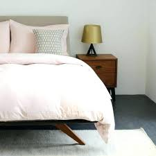 blush pink duvet sets light comforter cover queen white soft bedspread duve