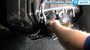 2002 chevy tahoe heater wiring how to install replace heater ac blower motor chevy silverado how to install replace heater ac