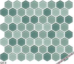 gemstone glass mosaic hex series tile gx 8 by american universal