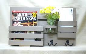 office depot magazine rack. magazine holder mail organizer wood wall hanging key hooksdiy office locker depot rack