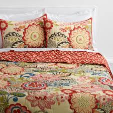 Floral and Geometric Darby Reversible Quilt | World Market &  Adamdwight.com
