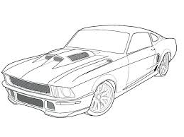 Coloring page classic car coloring pages drawn race muscle 7