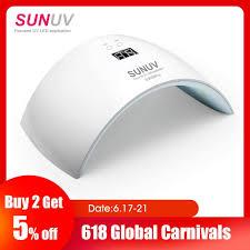 Sunuv Sun9x Plus 36 W Nagel Lamp Uv Lamp Nail Dryer Voor Uv Gel Led Gel Nail Machine Infrarood Senso