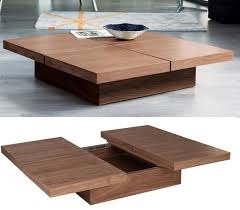 modern coffee table with storage plans