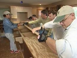 carefully lay down new countertop
