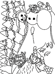 Small Picture Sledding in the Snow Coloring Page crayolacom