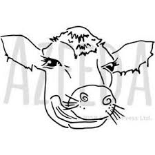 Cow Template Details About A5 Cow Face Wall Stencil Template Ws00036804