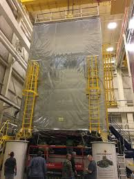 webb telescope to resume vibration testing in nasa s james webb space telescope sits in a clean tent before vibration testing at nasa s goddard space flight center in greenbelt maryland