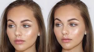 beachy glowy bronzed makeup tutorial jasmine hand
