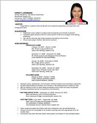 Sample Resume For Any Position Fabulous Sample Resume For Government Employee Philippines 24 2